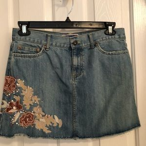 Old Navy Ultra Low Waist Denim Mini Skirt